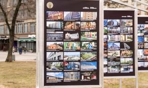 """Konkursa """"Latvijas Būvniecības Gada balva 2015"""" izstāde Līvu laukumā"""