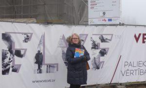 """Kampaņa """"Mācies būvniecību"""" 2017.gada 15.februārī VEF Kultūras pilī. Viena no organizatorēm - Agrita Lūse."""