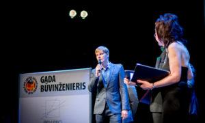 """""""Gada inženieris projektētājs"""". Ivo Grandāns – 2. vieta, saņem Gints Freibergs, """"Firma L4""""."""