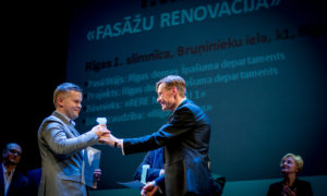 """""""Fasāžu renovācija"""". 1. vieta Rīgas 1.slimnīcas 1.korpuss."""