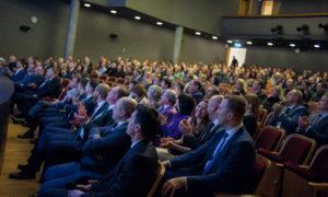 Konkursa gala ceremonijā piedalījās valsts institūciju pārstāvji, diplomāti, arhitekti, būvuzņēmumu vadītāji, kopā 450 cilvēki