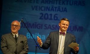 """Arhitekts Andris Kronbergs un foruma atbalstītāja """"BALTIC SOTHEBY S International Realty """" valdes priekšsēdētājs Vestards Rozenbergs"""