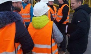 2017.g.4.decembris kampaņa Mācies būvniecību - LLU studenti - viesojas uzņēmumā CTB.