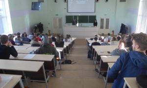 """Kampaņa """"Mācies būvniecību"""" RTU BF lekcijā """"Ievads būvniecībā"""" 2017.gada 31.oktobrī. Uzstājas Aldis Sproģis, moderē Gunita Jansone."""