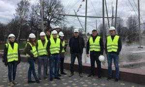 LLU topošie būvnieki viesojas Ventspils mūzikas vidusskolas topošajā ēkā 2018.gada 24.aprīlī.