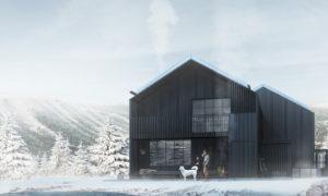 """Nordklint slēpošanas māju ciemats, jaunbūve, Varglyan 780 67 Sälen, Sweden. Pasūtītājs """"ORTALIS Group"""". Projekts Vasco Trigueiros, """"TRIGUEIROS ARCHITECTURE"""". Būvnieks """"PAVASARS HOUSING CONSTRUCTION"""" Būvuzraudzība """"ORTALIS Group""""."""