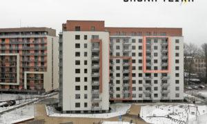"""Dzīvojamā ēka """"JAUNĀ TEIKA"""", jaunbūve, Ropažu iela 14 k-1, Rīga. Pasūtītājs """"Jaunā Teika""""/""""Hanner Group"""". Projekts A.Zlaugotnis, U.Bērziņš, """"TECTUM"""". Būvnieks """"Alfa Construction"""". Būvuzraudzība """"Prokrial"""", Kristaps Priede."""