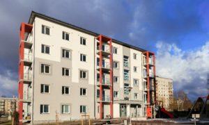 Daudzstāvu daudzdzīvokļu dzīvojamo ēku kompleksa jaunbūve Rīgā, Bultu ielā 2. Pasūtītājs «Bonava Latvija». Projekts Elīna Kreice, Dace Vigule, «Bonava Latvija». Būvnieks «Bonava Latvija», projekta vadītājs Lauris Zaharāns.