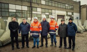 Ventspils brīvostas Dienvidu mola atjaunošanas būvdarbu uzsākšana