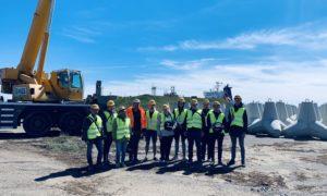 BMGS speciālisti 2019.gada 16.maijā Rīgas Celtniecības koledžas studentus iepazīstina ar vērienīgajiem būvdarbiem Ziemeļu molā Ventspils brīvostā