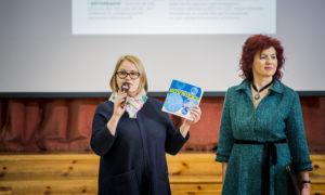 Biedrības BDCC pārstāves Agrita Lūse un Gunita Jansone.