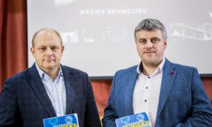 """Ainārs Leitēns, """"Velve"""" valdes priekšsēdētājs, un Deniss Kamuškovs, """"Velve"""" projektu vadītājs."""