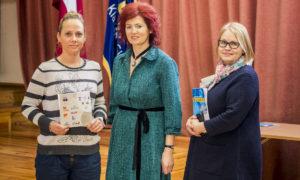 """Evita Biezmane, """"Bonava"""" darba aizsardzības speciāliste, Gunita Jansone, Agrita Lūse, biedrības BDCC pārstāves."""