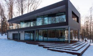 Jauna dzīvojamā ēka. Savrupmāja un pirts Daugmalē. Pasūtītājs privātpersona. Projekts Kaspars Bramanis, OPENSPACE.