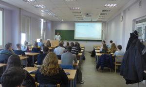2020.gada 26.februāris. Artjoms Samarins, Strandeck,  uzstājas LLU VBF studentu auditorijā.
