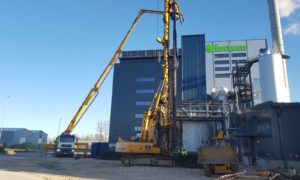 Siltumenerģijas akumulācijas iekārtas būvniecība Rūpniecības ielā 73A, Jelgavā, pasūtītājs Fortum Latvia, projekts Siltumelektroprojekts, būvnieks Industry Service Partner, būvuzraudzība Inspecta Latvia.