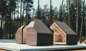 Ekspozīcija Viedais Koks Tērvetes dabas parkā, pasūtītājs Latvijas kokrūpniecības federācija, projekts arhitekti Rūdis Rubenis, Ritvars Krastiņš, MeKA vadītājs Andrejs Domkins, būvnieks Pavasars.
