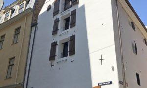 Fasāžu atjaunošana Aldaru iela 5, Rīga, pasūtītājs Aldarmans, būvnieks Fasāde PRO.