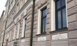 Fasādes atjaunošana Kr.Barona iela 92, Rīgā, pasūtītājs kopīpašnieki, būvnieks Fasāde PRO, būvuzraugs Mārcis Jaunzems.