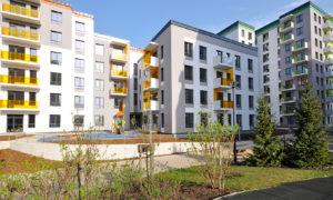 Daudzīvokļu komplekss Ezerparka Nami, Rusova iela 7, Rīga, pasūtītājs Rusova 7, projekts CORE projekts, būvnieks Newcom construction, būvuzraudzība Arhis Konsultanti.