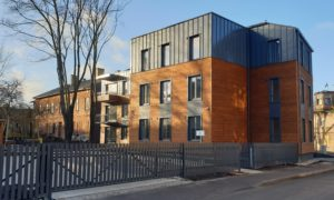 Jaunbūvēta daudzdzīvokļu māja, Baložu iela 7, Rīga, pasūtītājs Hepsor, projekts Tectum, būvnieks  Mitt & Perlebach, būvuzraudzība Būves un būvsistēmas.