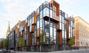 Daudzdzīvokļu ēkas ar komercplatībām jaunbūve Lāčplēša iela 11/13, Rīga, pasūtītājs Axi Invest, projekts SZK/Z, būvnieks LNK INDUSTRIES GROUP, būvuzraudzība Arhis Konsultanti.