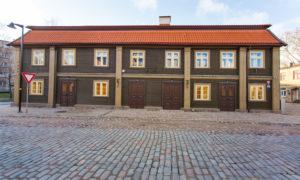 Ēkas pārbūve un restaurācija Vecpilsētas iela 14, Jelgava, pasūtītājs Jelgavas pilsētas dome, projekts Livland group, būvnieks RERE MEISTARI, būvuzraudzība Jurēvičš un partneri.