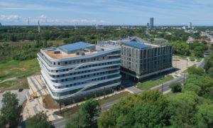 Latvijas Universitātes Zinātņu māja, Jelgavas iela 3, Rīga, pasūtītājs Latvijas universitāte, projekts Sestais stils, būvnieks LNK INDUSTRIES GROUP, būvuzraudzība Forma 2.