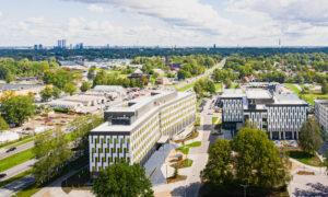 Business Garden Rīga 1.kārtas ēkas Malduguņu ielā 1 un 2, Mārupe, pasūtītājs Vastint Latvia, projekts Depo projekts, būvnieks Skonto Būve, būvuzraudzība Forma 2.