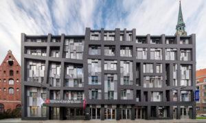 Viesnīcas ēkas jaunbūve, Grēcinieku iela 25, Rīga, pasūtītājs Apex Alliance Grecinieku, projekts ARHIS ARHITEKTI, būvnieks RERE BŪVE, būvuzraudzība EUROBAU-RĪGA.