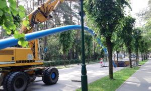 Ūdensvada un kanalizācijas tīklu pārbūve Rīgā, Ostas prospektā, būvnieks Norma –S.
