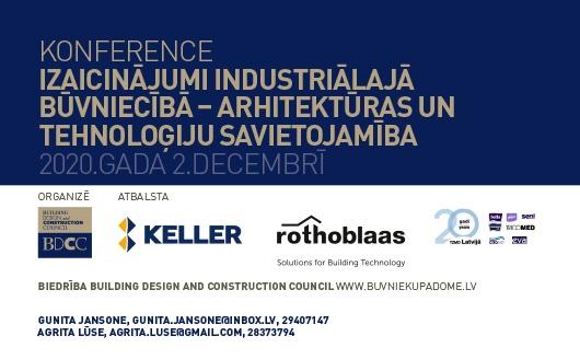 Konference Izaicinājumi industriālajā būvniecībā – arhitektūras un tehnoloģiju savietojamība