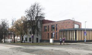 Pārbūve. Skolas un stadiona rekonstrukcija un jaunbūve Valgā, Igaunijā - Vabaduse 13,Valg. Pasūtītājs Valgas pilsētas dome, projekts Lauder Architects, būvnieks Rennes OU.