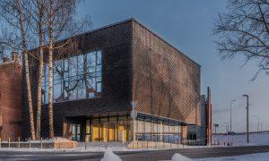 """Pārbūve. Daugavpils Dizaina un mākslas vidusskolas """"Saules skola"""" apbūves komplekss. Pasūtītājs Daugavpils pilsētas dome, projekts MARK ARHITEKTI, būvnieks LAGRON, būvuzraudzība Būvzinis."""