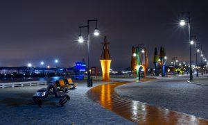 Ārtelpas labiekārtojums. Ostas ielas izbūve Ventspilī. Pasūtītājs Ventspils brīvostas pārvalde, projekts SBI-Ventspils, arhitektūra Juris Poga, būvnieks Ostas celtnieks, būvuzraugs pro CAD.