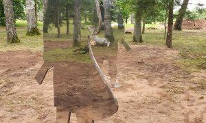 Ārtelpas labiekārtojums. Aleksandra Grīna parks Kalna pagastā. Pasūtītājs Jēkabpils novada pašvaldība, projekts Ineta Buka, Agnese Cāne, būvnieks LV ROADS.