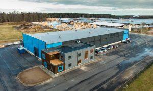 """Ražotne – industriāla būve. Ražošanas ēka """"Jorvika 2"""", Kocēnu pagasts, Kocēnu novads. Pasūtītājs BYKO-LAT, projekts PILS M, būvnieks AIMASA, būvuzraudzība ValmArt."""