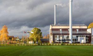 Ražotne – industriāla būve. Šķeldas katlumāja Valmierā, Dakstiņu 1, Valmiera. Pasūtītājs Valmieras enerģija, būvnieks MONUM, būvuzraudzība Būvprojekts.