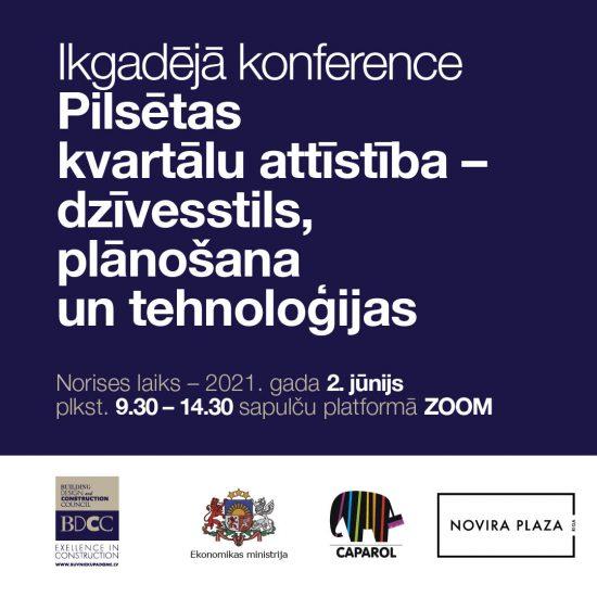 Konference 2.jūnijā: Pilsētu kvartāli – dzīvesstils, plānošana un tehnoloģijas