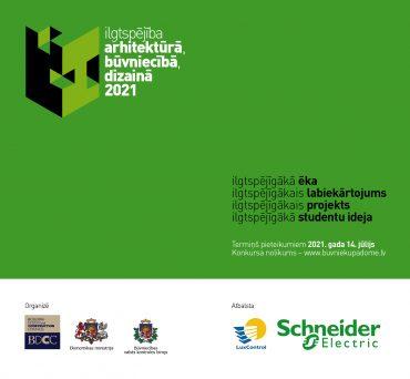 Konkurss – Ilgtspējība arhitektūrā, būvniecībā, dizainā 2021